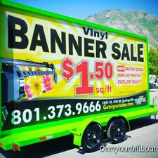 Solar Powered Mobile Billboard Trailer Advertising Sign 10x20