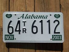 64 TR 6112 = 2003 Walker County Alabama License plate    $4.00 Shipping in US