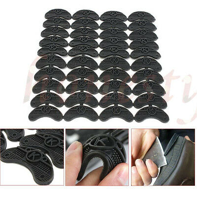 20 Pairs Rubber Sole Heel Savers Toe Plates Taps DIY Glue on Shoe Repair Pads