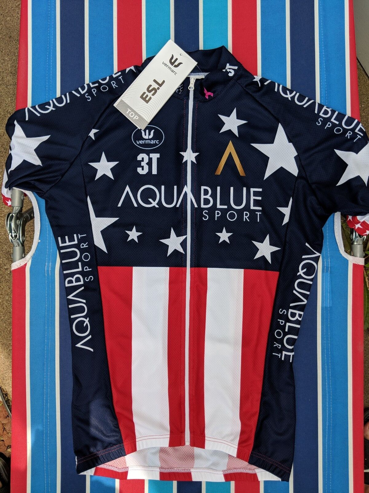 U.S. National Champion's Jersey, Vermarc, Aquabluee,  Larry Warbasse Edition  cheap online
