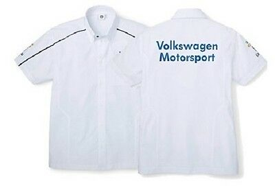 VW MOTORSPORT COLLECTION – GENUINE MENS WHITE SHORT SLEEVE SHIRT