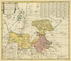 Historische Karte: Ämter Dahme und Jüterbog mit der Graftscheft Baruth in dem Gebiet Seyda, Potsdam, Luckau und Märkisch Buchholz 1760 (Plano) von Peter (der Jüngere) Schenk (2006, Mappe)