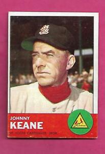 1963-TOPPS-166-CARDINALS-JOHNNY-KEANE-MANAGER-EX-MT-CARD-INV-A8554