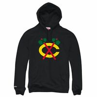 Chicago Blackhawks Mitchell Ness Team History Pullover Hoody L