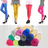 Chic Women's Candy Color Skinny Slim Stretch Leggings Soft Pencil Pants Trousers
