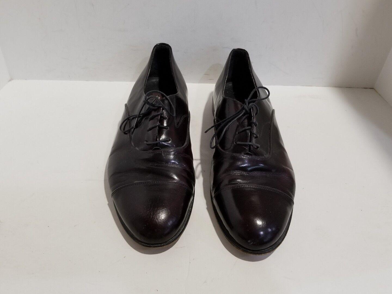 Duccio Papini Mens Reddish Brownish Patent Leather Loafers Size 10