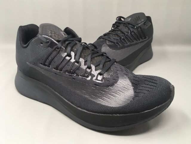 3bb2fccb4641 Nike Zoom Fly Triple Black Anthracite Mens Running Shoes Size 8 880848 003  New