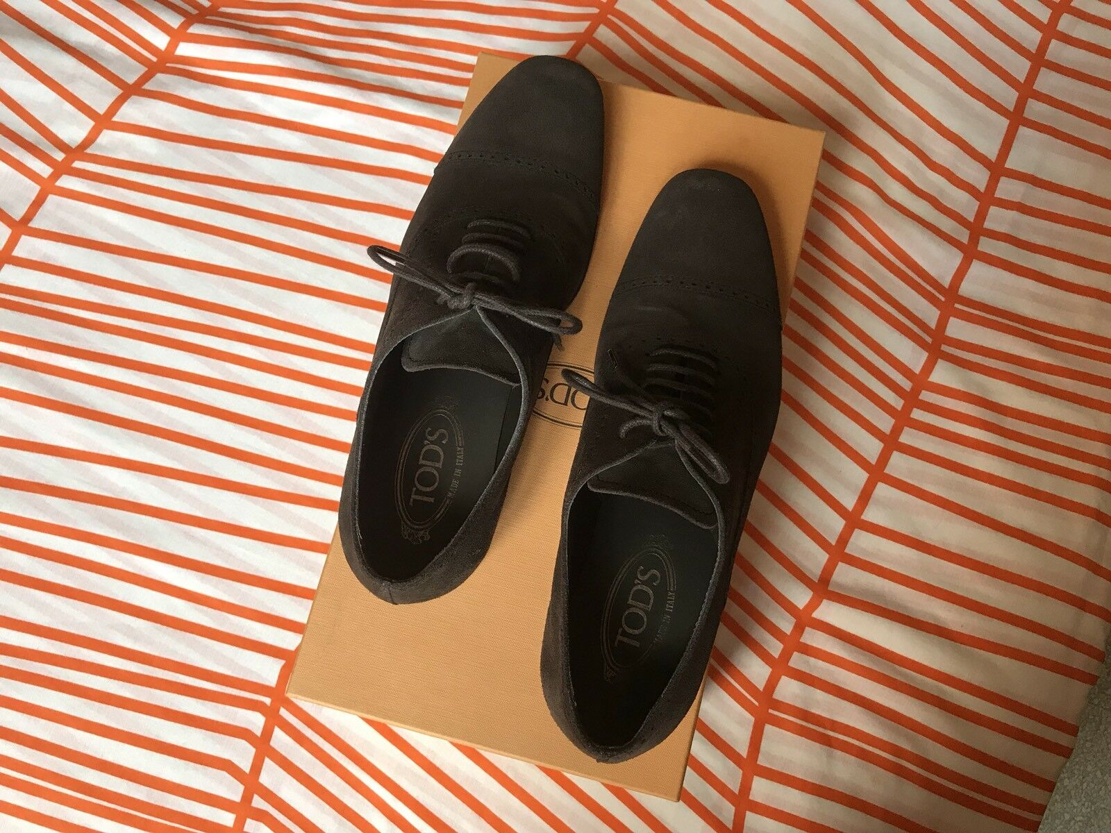 TODS TOD'S Oxford Classica Scamosciata Pelle Scamosciata Classica braun braun Suede Lace-up Lace Up c5bf61