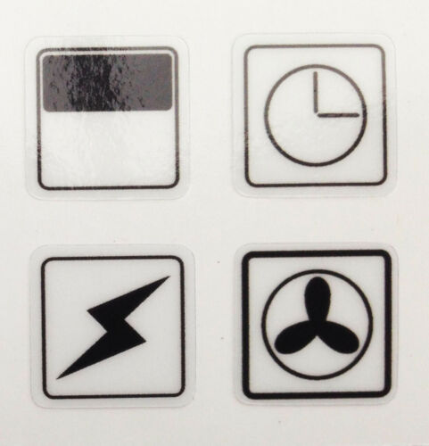 4x Cooker Oven Stove Range Stickers Symbols Replacement Labels Knob Decals DIY