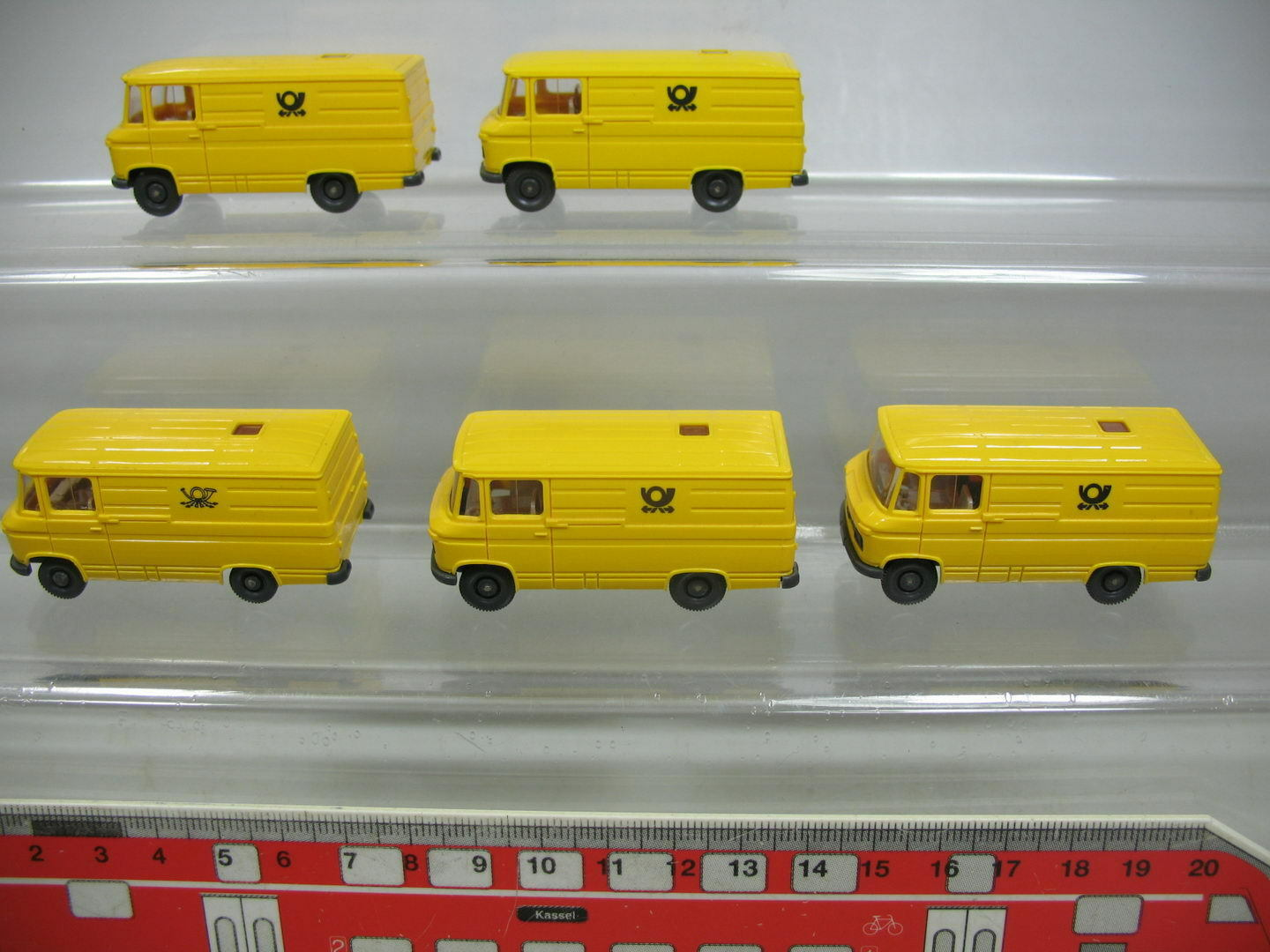 Af193-0, 5     5x WIKING H0 transporter-modell MERCEDES-BENZ MB 27 POST, NUEVO e691f1