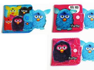 Furby Doll Blue,Pink Bifold Wallet Purse