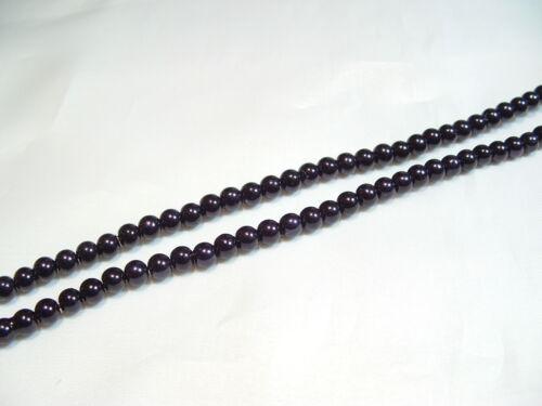 #83E Black pcs x Glass Pearl 10mm Round Beads 85
