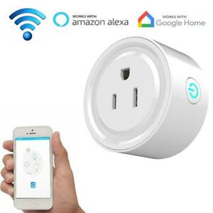 WIFI-US-EU-UK-Plug-Smart-Timing-Socket-Wireless-Outlet-Voice-Intelligent-Control