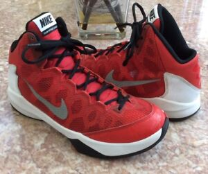 50b2bc87973 Nike Zoom Without A Doubt Men s Red Gray Basketball Shoes Size 9 ...