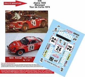 DECALS-1-18-REF-636-ALPINE-RENAULT-A110-MANZAGOL-RALLYE-TOUR-DE-CORSE-1974-RALLY