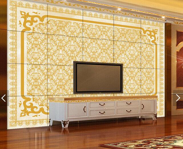 3D goldenes Muster 668 Tapete Tapeten Mauer Foto Familie Tapete Wandgemälde DE