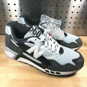 pretty nice 00df2 fd328 Details about New Balance 660 ML660SNC Men's White Gray Black Suede Running  Shoes Sz 8