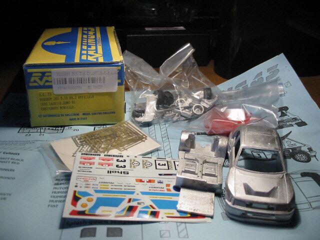 Kit  Peugeot 205 T.16 EV.2 Ufficiale (2 versioni) 1985 - Racing43 models kit 1 43  sortie de marque