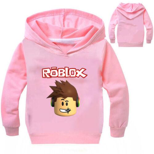 ROBLOX Cotton Sweatshirts Hoodies Pullover Boys Girls Kids Casual Clothing