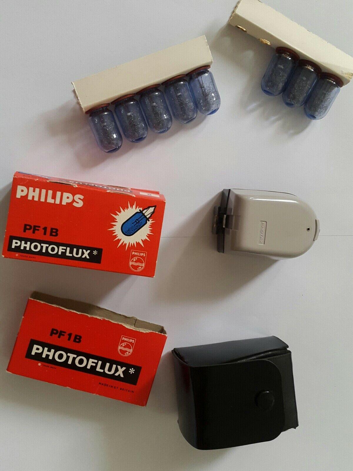Vintage photax Camera Flash Gun Model BII with Original Case