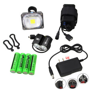 2x T6 LED SolarStorm 5000LM Head Front Bicycle Light Bike Headlight Lamp Black