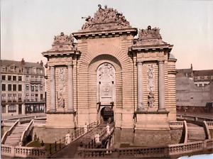 France-Lille-La-porte-de-Paris-vintage-print-photochromie-vintage-photoc
