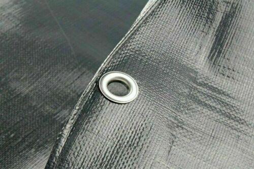 Schwerlast Verstärkte Grau Plane 260GSM Für Bauarbeiter Und Industrie Verwendung