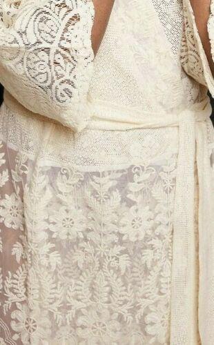 Zara Kimono Tunic Dress Lace Embroidery Lace Embroidered Dress Tunic Jacket