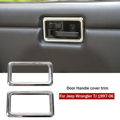 Tail Door Handle Cover ABS Chrome Bowl Mounding For Jeep Wrangler TJ 1997-2006