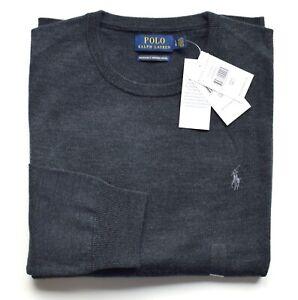 Details zu POLO RALPH LAUREN Herren Pullover granite 100% Wolle Größe M L