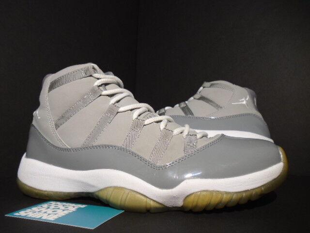 Nike Air Jordan XI 11 Retro COOL GREY blanc Noir PATENT LEATHER 378037-001 10 Chaussures de sport pour hommes et femmes
