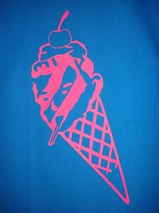 fa2e1a30a94a bbc PINK Ice Cream MELTING Cone Head Tee blue bape billionaire boys ...
