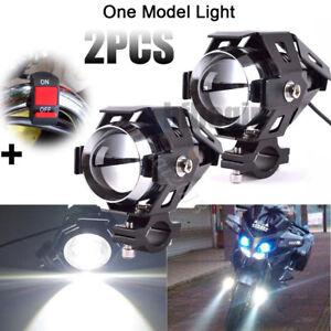 2pcs-125W-U5-Motorcycle-Motorbike-Headlight-LED-Fog-Spot-Lights-Bulb-amp-Switch