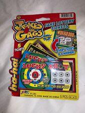LUCKY SHOT 5 Fake $5,000 WINNING LOTTERY Tickets  ~ Every Ticket is a Winner