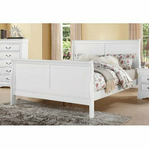 Bed Frame Solid Wood Headboard