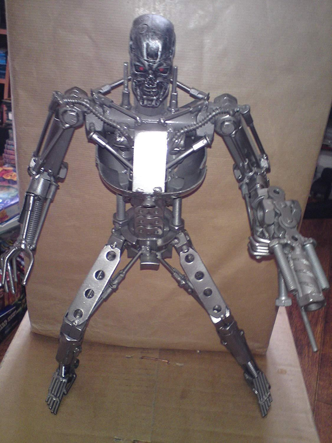 The terminator - t-800 terminator metal sculpture (nut & bolts etc) over 14 inch