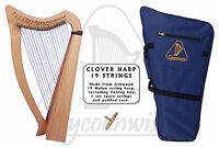Tycoonwise | 19 Strings Ashwood Irish Harp, Carry bag & Tuner |