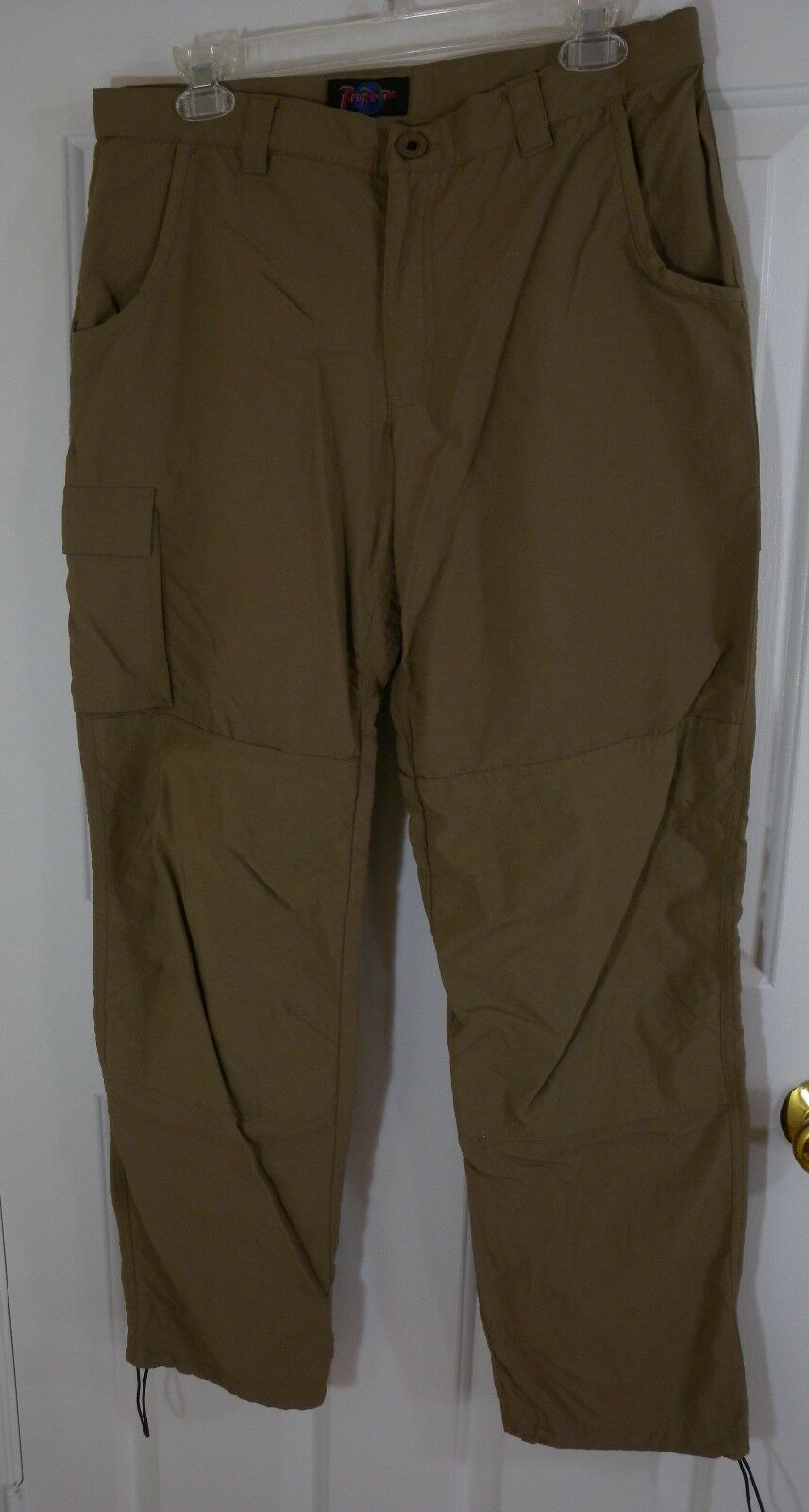 RailRiders Nylon Tan Khaki Brown Travel Hiking Long Pants Womens Medium Cargo