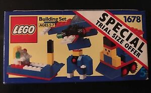 Vintage 1991 LEGO Basic Building Set #1678 Special Trial Size Offer NEW Sealed