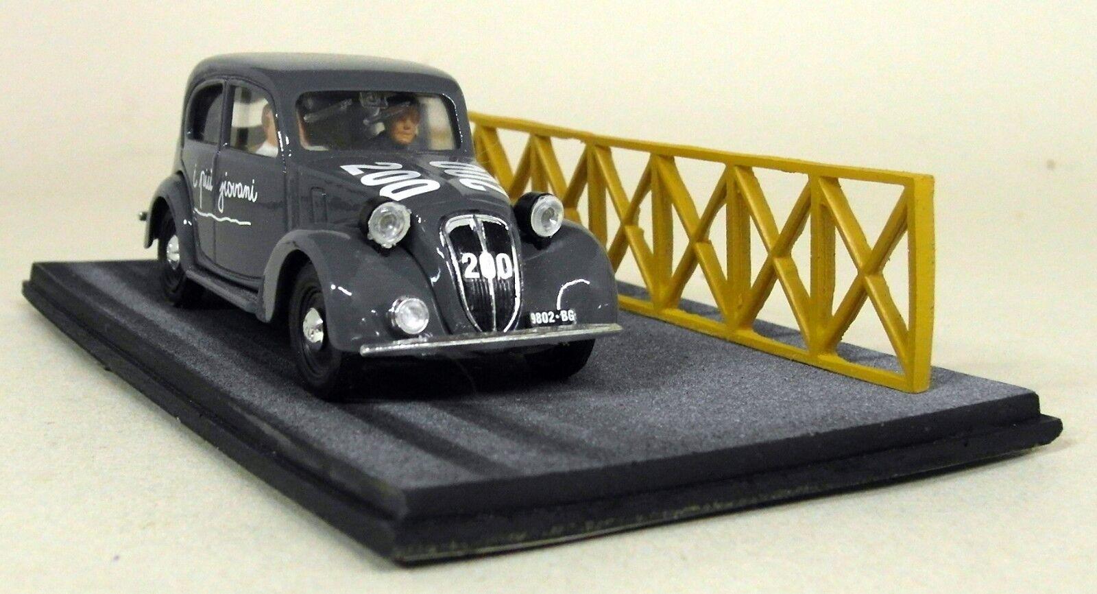 BRUMM échelle 1 43 AS22 FIAT 1100 Mi Miglia 1949 Brambilla Cantoni voiture diorama