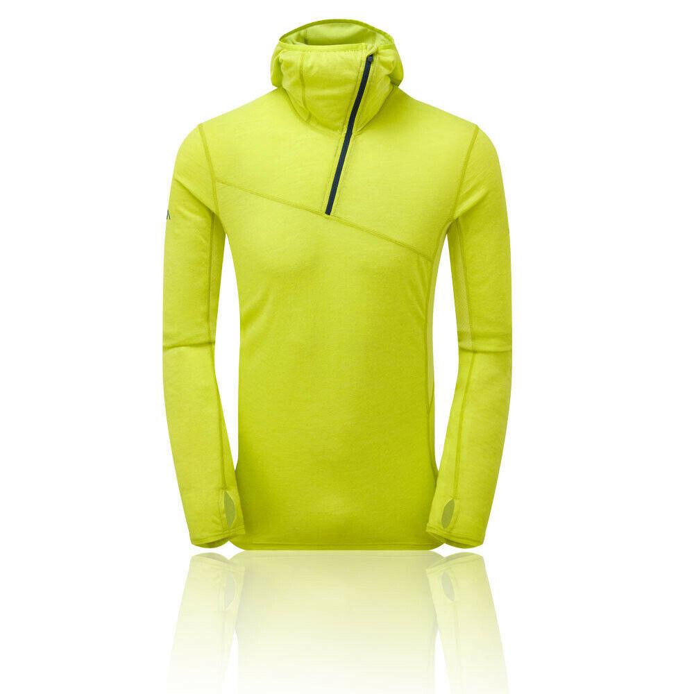 Montane herren Primino Hybrid Alpine Half Zip Hoodie - Grün Gelb sport