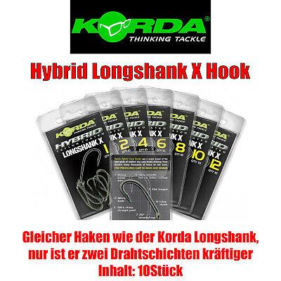 Korda Longshank X Haken Karpfenhaken 10 Stück verschiedene Größen
