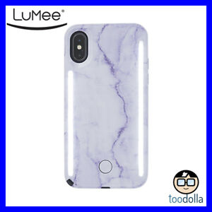 save off daafc b635a Details about LuMee Duo selfie case with front and back lights, iPhone  X/XS, Lavender Marble