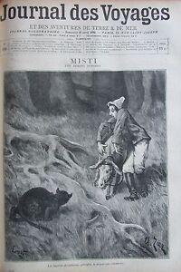 Zeitung-der-Voyages-Nr-929-von-1895-Odysee-D-ein-Esel-Savant-in-Java
