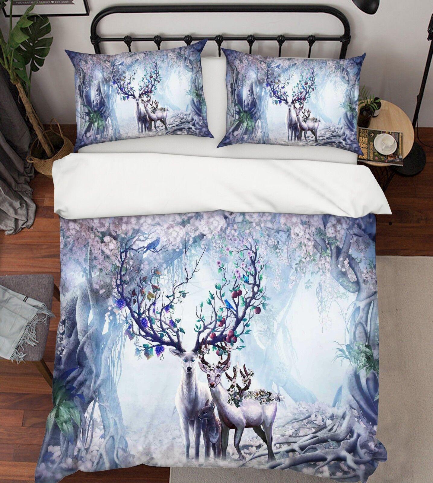 3d orignal Brouillard féerique 5 lit housses de coussin steppes couette couvertures Set Single de