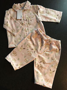 BNWT Baby Girls Sz 0 Mint Sheep Print Long Style Flannel Winter Style PJ Pyjamas