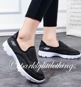 cheapest price uk availability look good shoes sale Ladies Slip on Trainer Shoe Go Walking Black uk size 5 Womans ...
