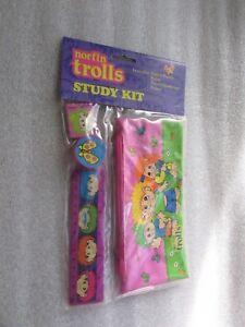 NORFIN-TROLLS-STUDY-KIT-PENCIL-BOX-SET-MINT-IN-PACKAGE-1992