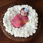 Newborn Baby Photography Photo Prop Backdrop Beanbag Blanket Wool Knit Soft Rug