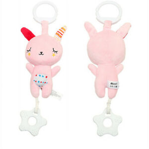 Baby Infant Rattles Plush Animal Stroller Hanging Bell Music Play Toy Doll